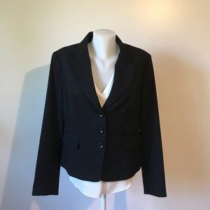 H&M Black Blazer Fully Lined Light Weight Size 16
